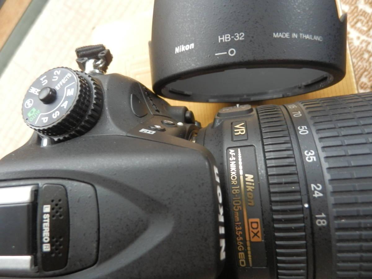 美品 D7100 AF-S18-105VR ショット数9644_画像8