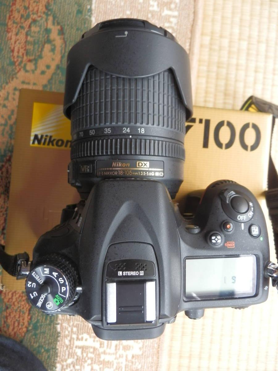 美品 D7100 AF-S18-105VR ショット数9644_画像7