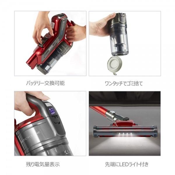 1円スタート 新品 未使用 コードレス掃除機 サイクロン掃除機 超吸引力 ブラシレスモーター スティック型&ハンド型 2-in-1 充電式_画像5