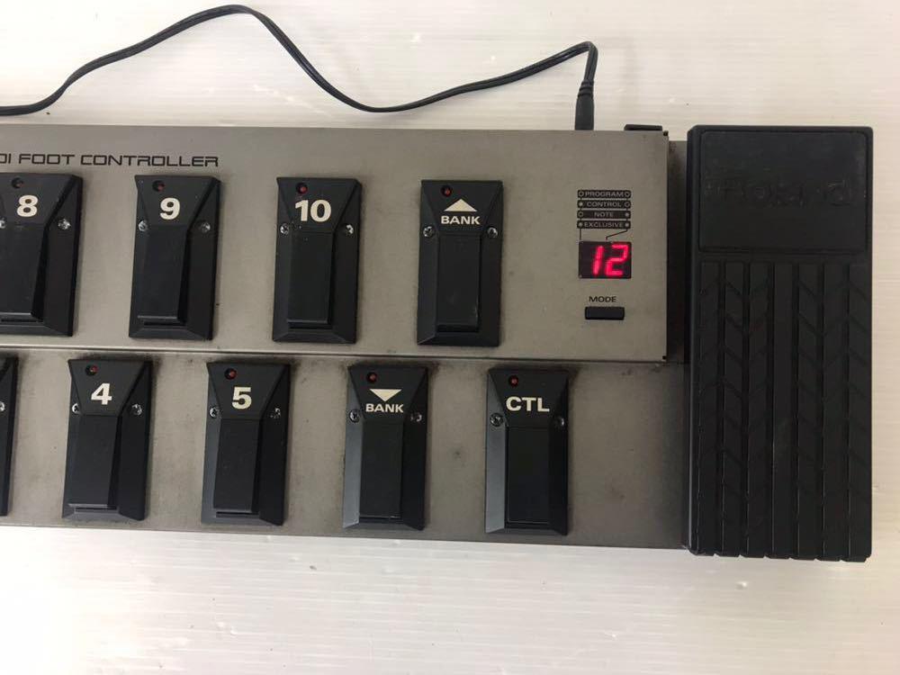 R051402 Roland FC-200 MIDIフットコントローラー 通電OK 動作未確認 ジャンク扱い_画像3