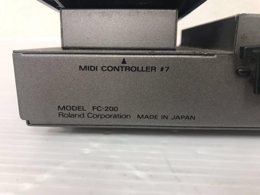 R051402 Roland FC-200 MIDIフットコントローラー 通電OK 動作未確認 ジャンク扱い_画像10