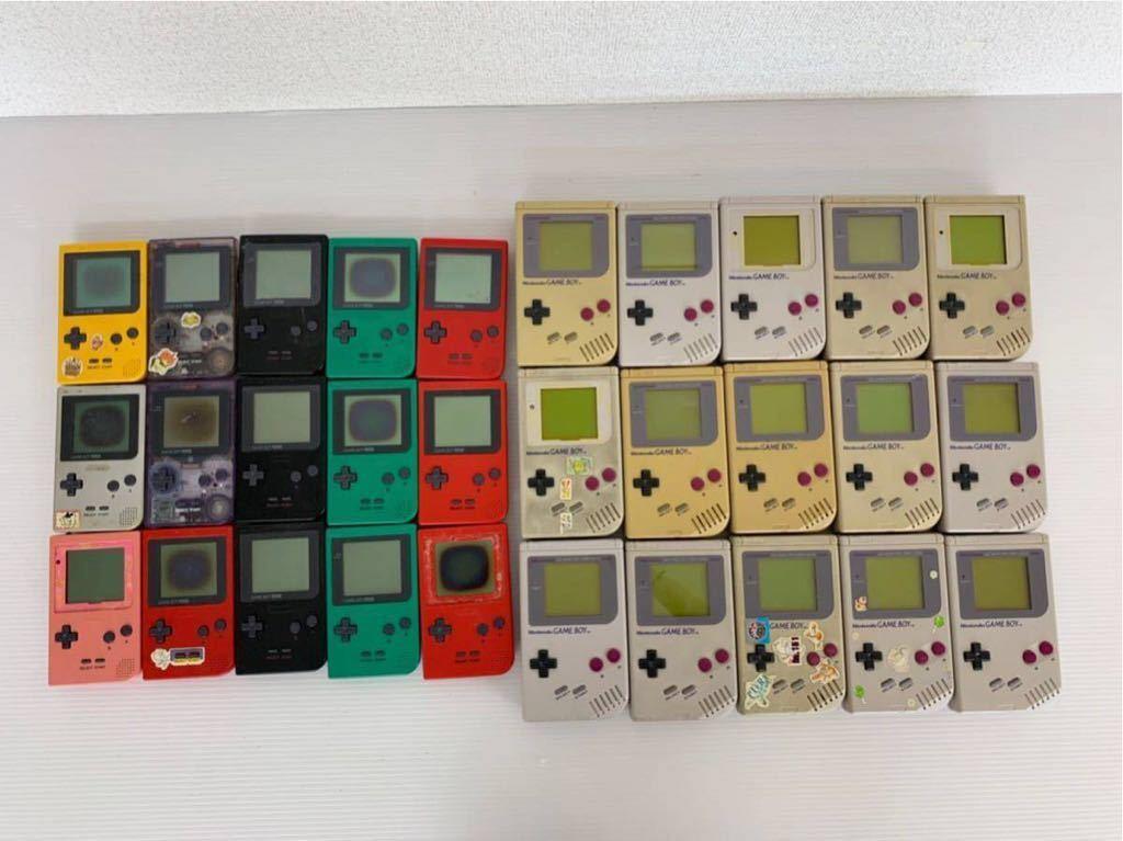 P052402 Nintendo ニンテンドー GAME BOY ゲームボーイ15台 ゲームボーイポケット15台セット 合計30台 ジャンク