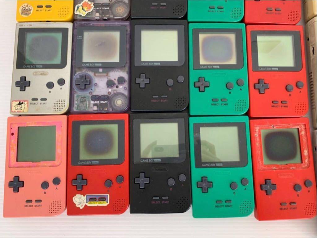 P052402 Nintendo ニンテンドー GAME BOY ゲームボーイ15台 ゲームボーイポケット15台セット 合計30台 ジャンク_画像5