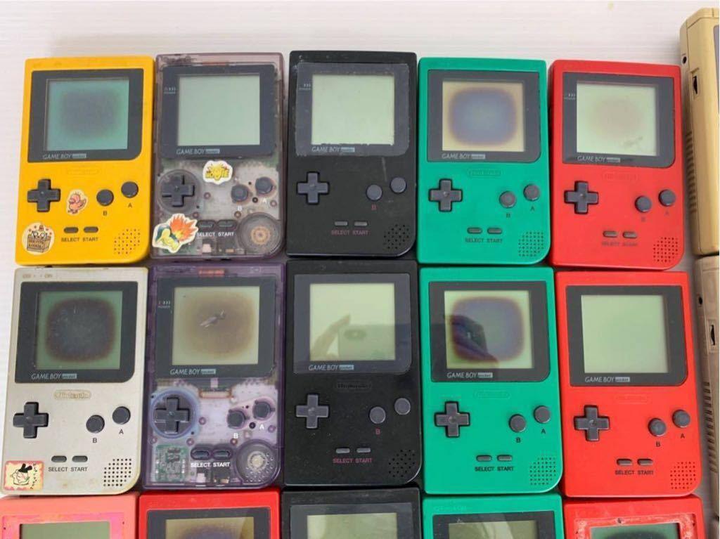 P052402 Nintendo ニンテンドー GAME BOY ゲームボーイ15台 ゲームボーイポケット15台セット 合計30台 ジャンク_画像4