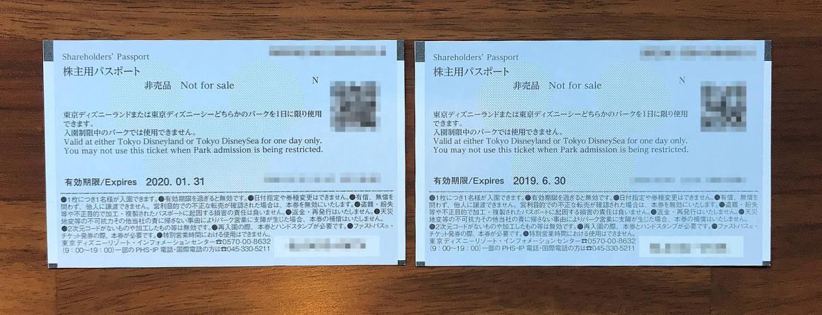 ディズニー株主優待パスポート ミッキー&ミニー 2枚セット 送料込 1枚は2019年6月30日まで_画像2