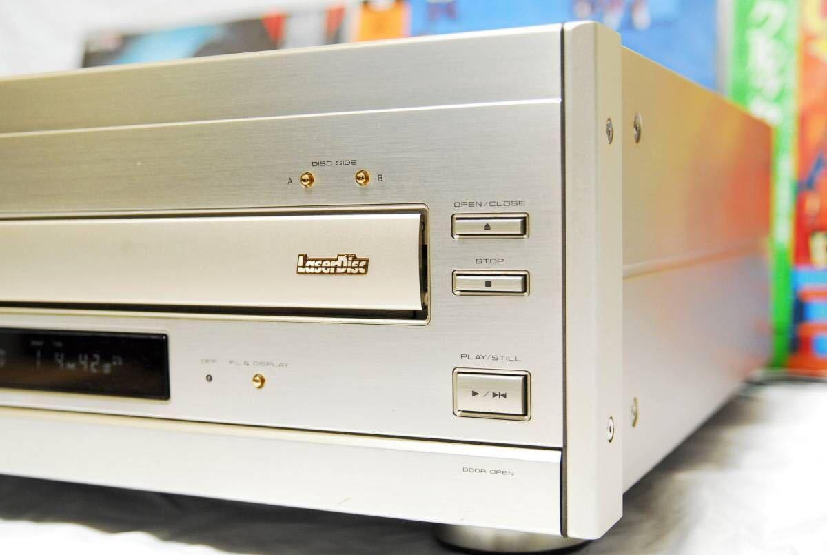 【高級機/定価25万/美観/整備品/タッチ式学習リモコン付】パイオニア CLD-939 LDプレーヤー レーザーディスク_画像5