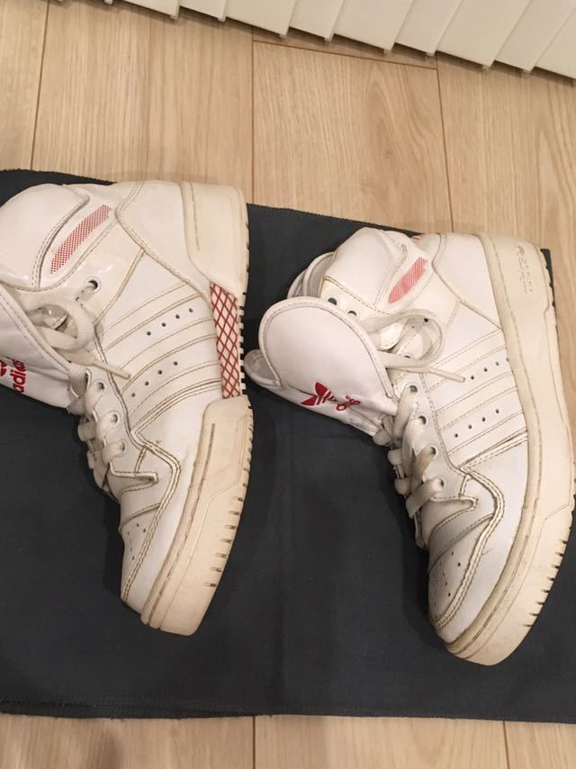 adidas Originals Attitude Logo Heart shoes ハイカット スニーカー 24.5㎝ ホワイト 三つ葉ロゴ アディダス オリジナルス_画像5