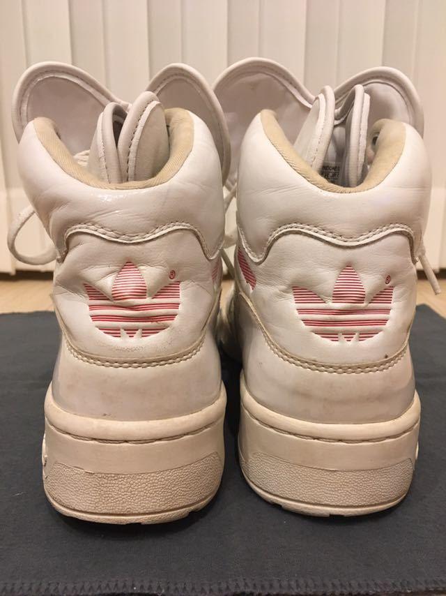 adidas Originals Attitude Logo Heart shoes ハイカット スニーカー 24.5㎝ ホワイト 三つ葉ロゴ アディダス オリジナルス_画像6