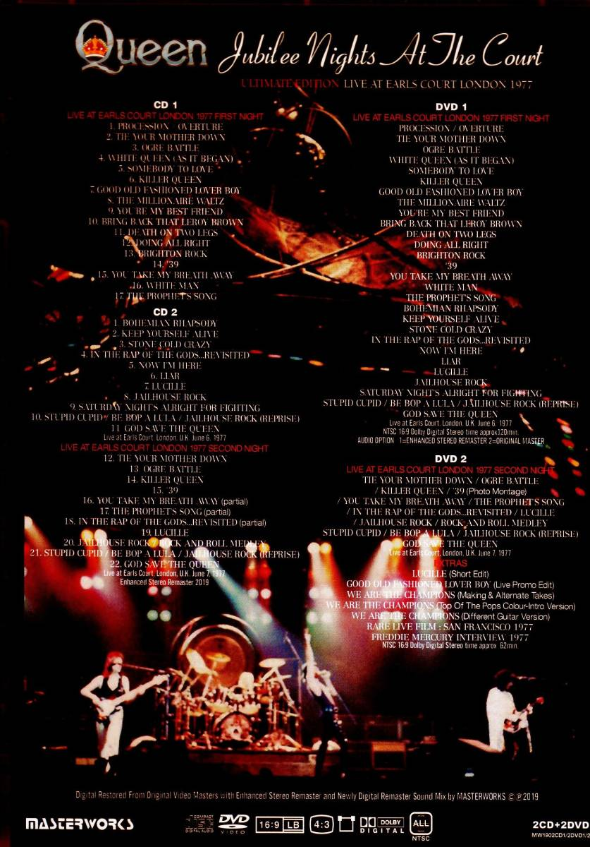 Queen クィーン/Jubilee Nights at the Court Ultimate Edition_画像2