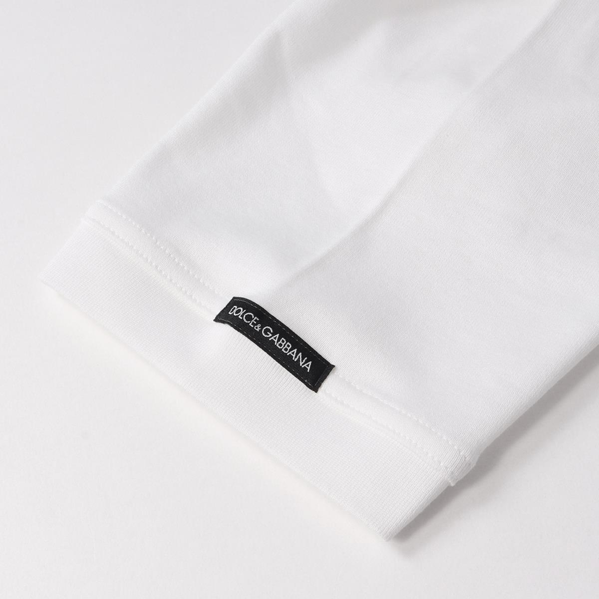 美品 DOLCE&GABBANA ドルチェ&ガッバーナ コットン キーネック Tシャツ ホワイト 48_画像4