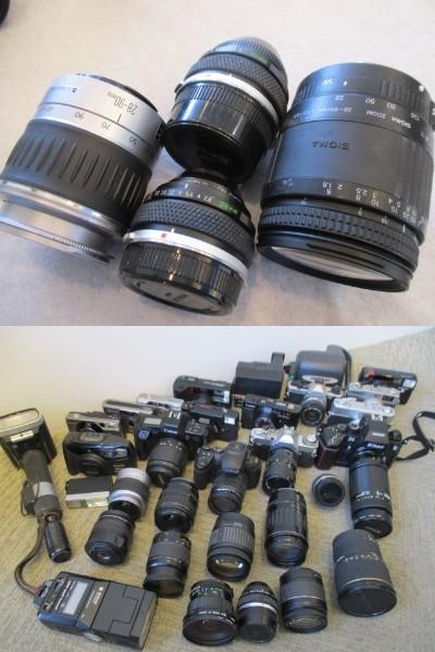 カメラ レンズ ストロボ 等 まとめ売り Nicon canon konica PENTAX OLYMPUS FUJIFILM 等_画像9