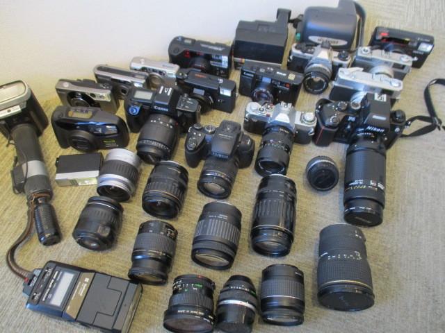 カメラ レンズ ストロボ 等 まとめ売り Nicon canon konica PENTAX OLYMPUS FUJIFILM 等