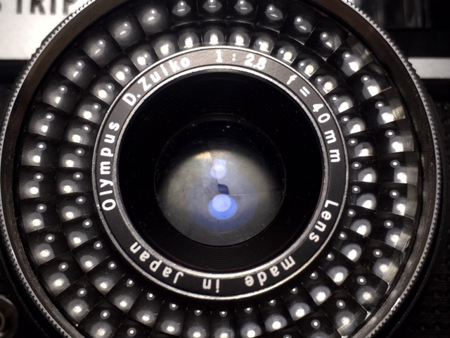 ※4247 OLYMPUS TRIP35 オリンパス 2:2.8 F=40mm フィルムカメラ 動作未確認 ジャンク_画像8