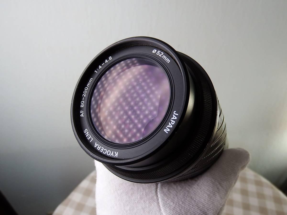 中古品 ジャンク品 KYOCERAキョーセラ AF80-200mm/4-4.8 52mm 電源は入ります_画像9