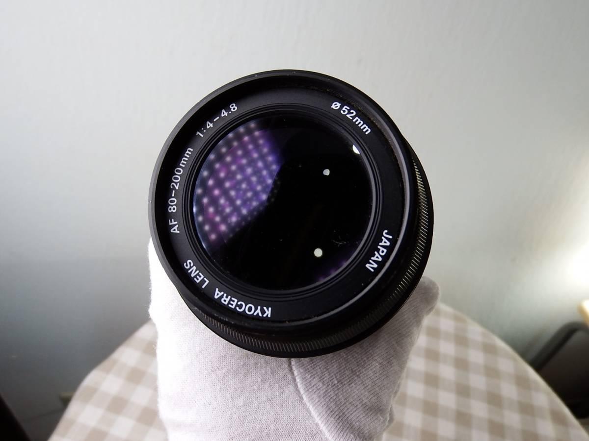 中古品 ジャンク品 KYOCERAキョーセラ AF80-200mm/4-4.8 52mm 電源は入ります_画像10