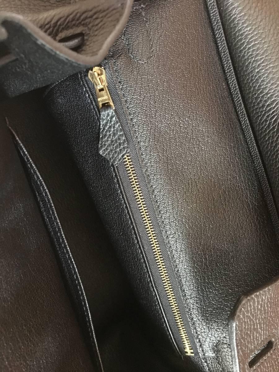 エルメス バーキン 極美品 ブラック バーキン 25 大人気 ハンドバッグ T刻印 ノワール ゴールド金具 ヴォートゴ シェーブル_画像7