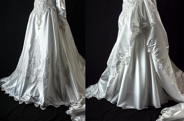 これぞウェディングドレス 最強光沢 超豪華 厚手 サテン 超つるつる ウェディングドレス_画像2