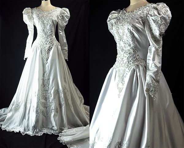 これぞウェディングドレス 最強光沢 超豪華 厚手 サテン 超つるつる ウェディングドレス
