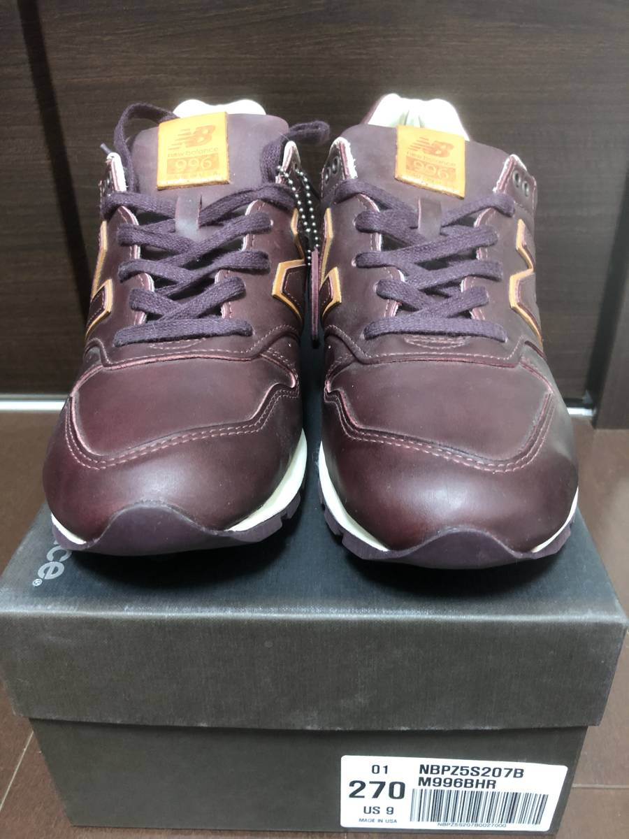 f0db65ea148aa New Balance M996 BHR 27cm USA ホーウィンレザー HORWEEN LEATHER 576 995 997 998 1300  1400