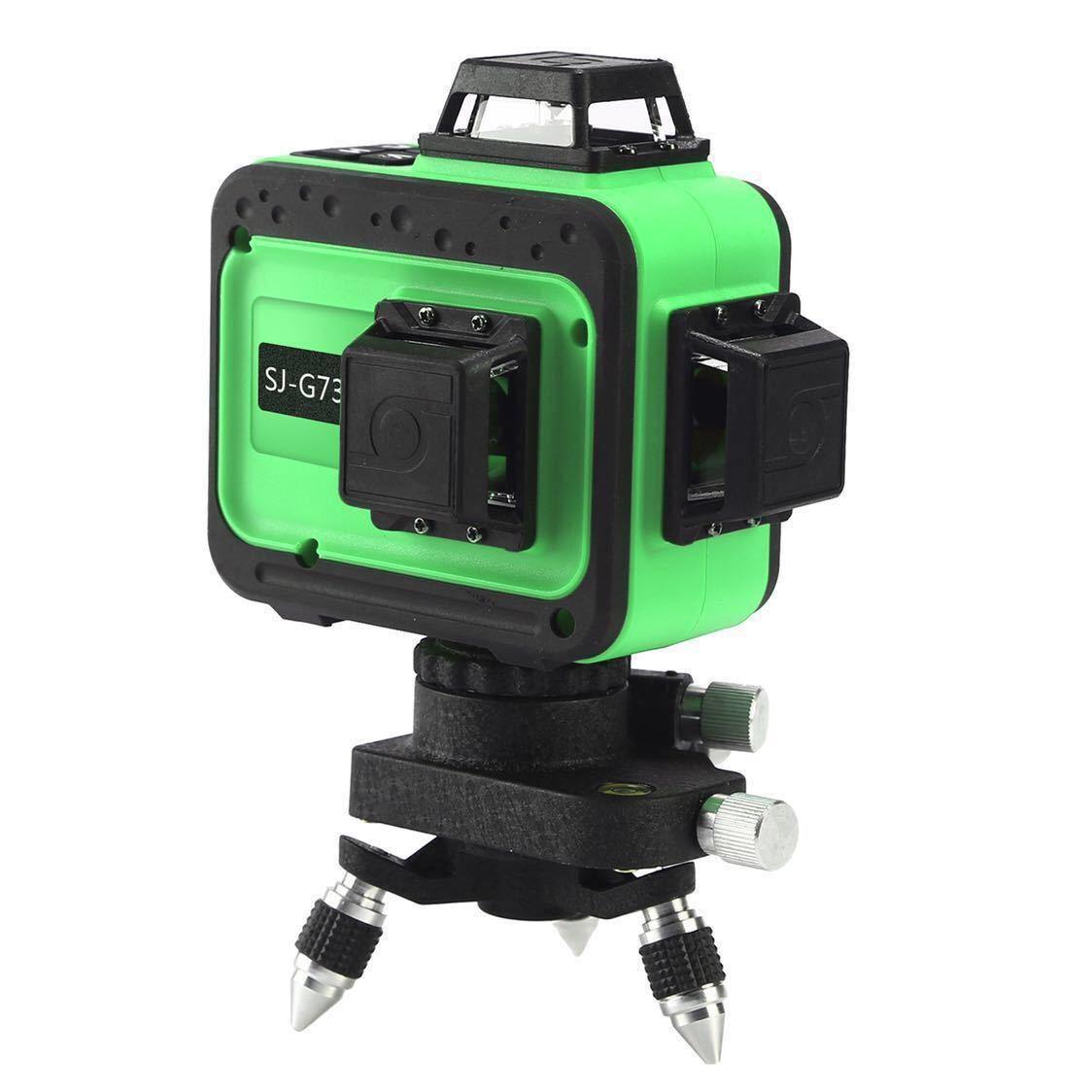 最新型 3D LASER 12ライン フルライングリーンレーザー墨出し器 360°垂直*2・360°水平*1グリーンレーザー墨出し器 レーザーレベル 水平器_画像2
