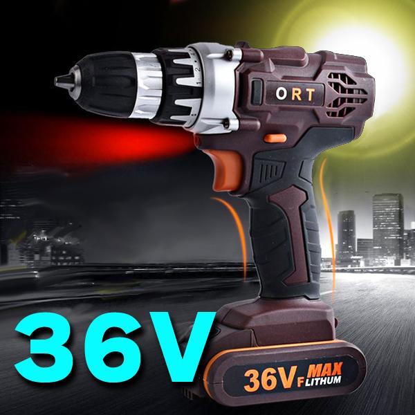 【in36】インパクトドライバー 36V 充電式 18+1段トルク:: 無段階変速 電動ドリル 電動ドライバー 2段階速度 コードレス_画像1