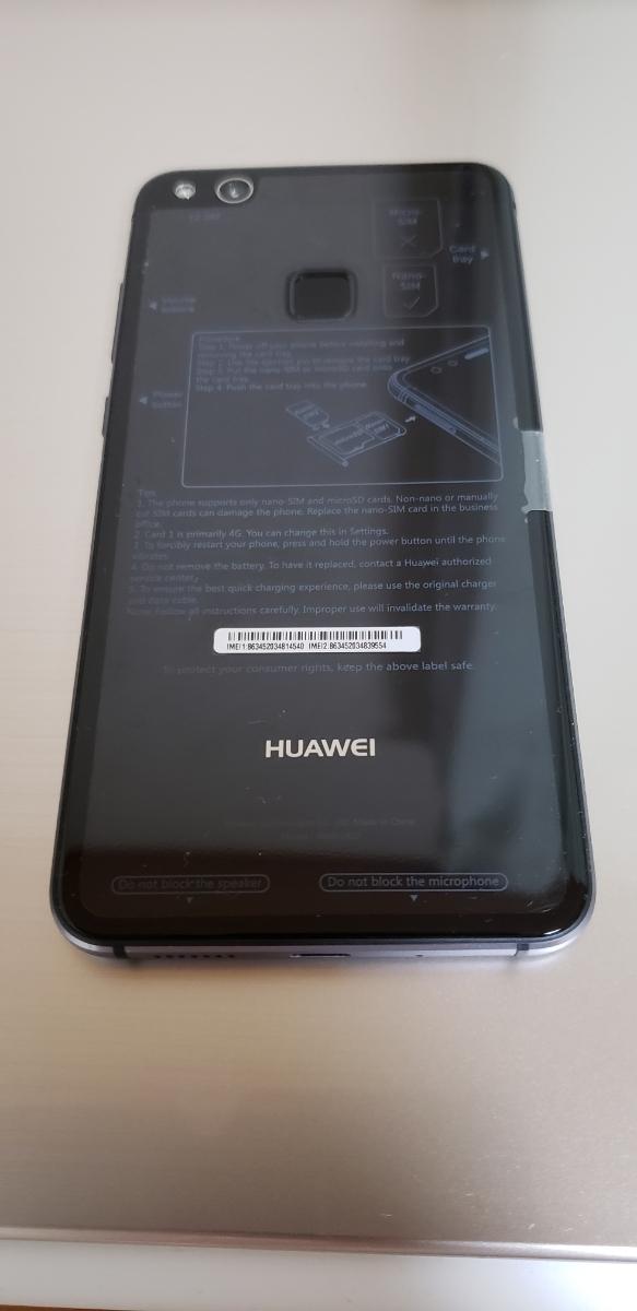 HUAWEI P10 lite 美品 ブラック_画像2