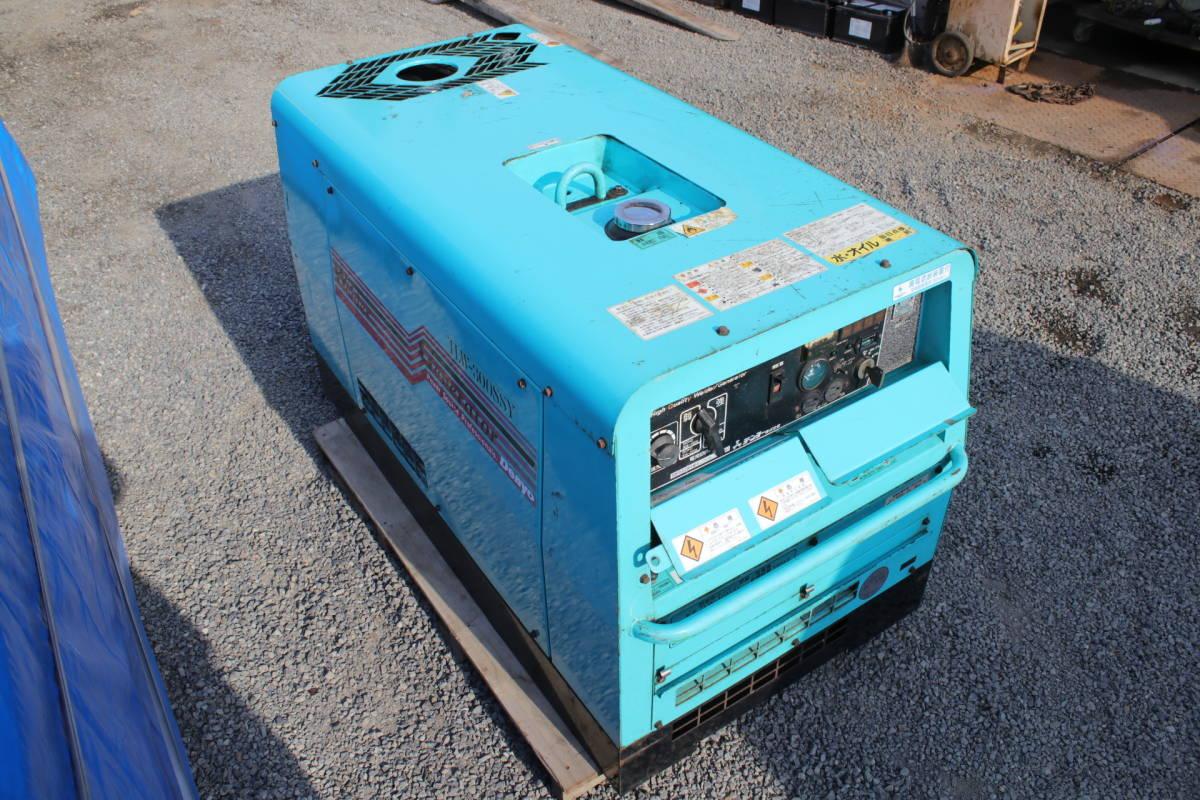 デンヨー DENYO TLW 300 SSY 防音型 溶接機 発電機 ディーゼルエンジン 三相 中古品_画像4