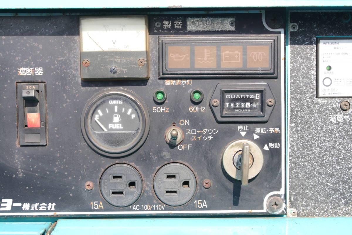 デンヨー DENYO TLW 300 SSY 防音型 溶接機 発電機 ディーゼルエンジン 三相 中古品_画像7