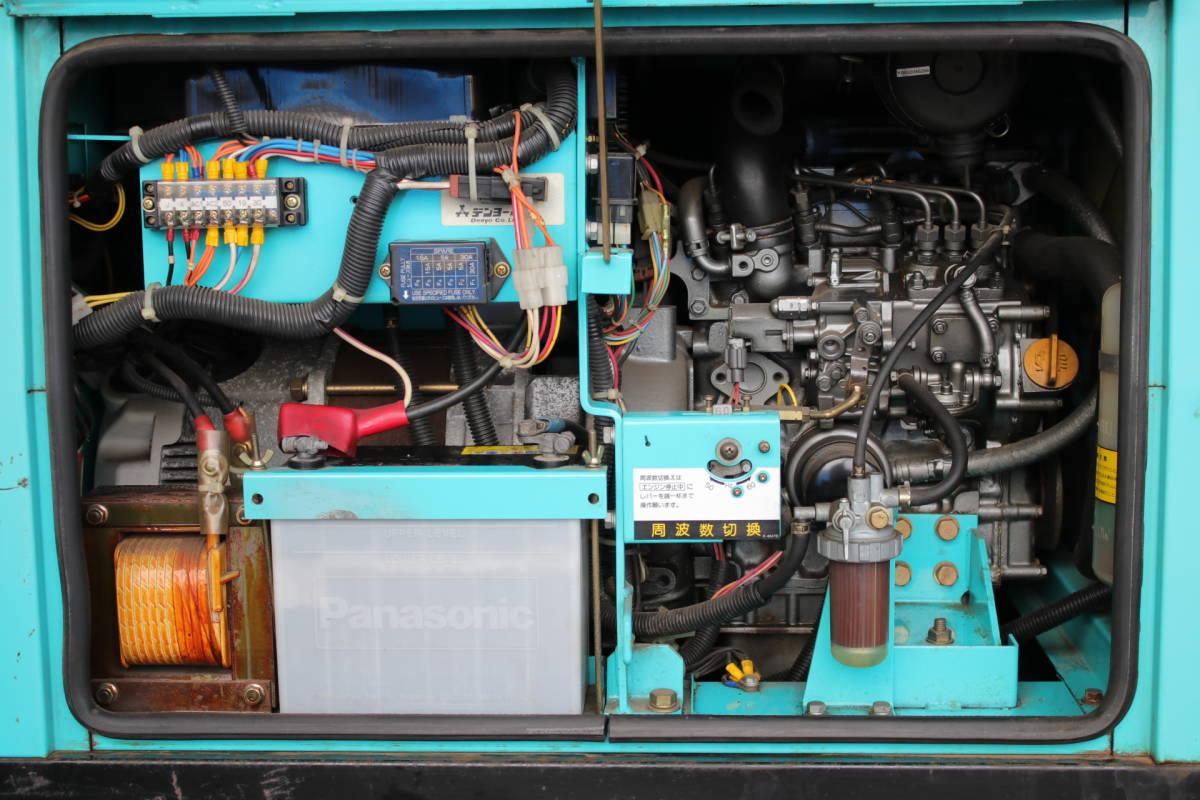 デンヨー DENYO TLW 300 SSY 防音型 溶接機 発電機 ディーゼルエンジン 三相 中古品_画像8