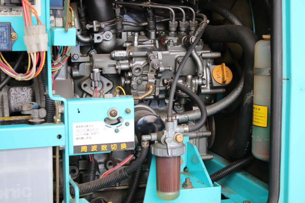 デンヨー DENYO TLW 300 SSY 防音型 溶接機 発電機 ディーゼルエンジン 三相 中古品_画像9