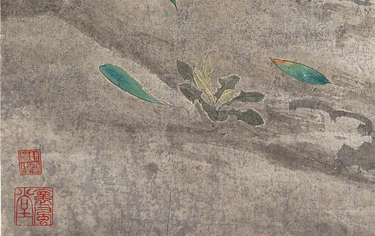 張大千【鳥】中国書画家 美術品 中国美術 掛軸 掛け軸 希少品 サイズ: 60cm x 132cm_画像7
