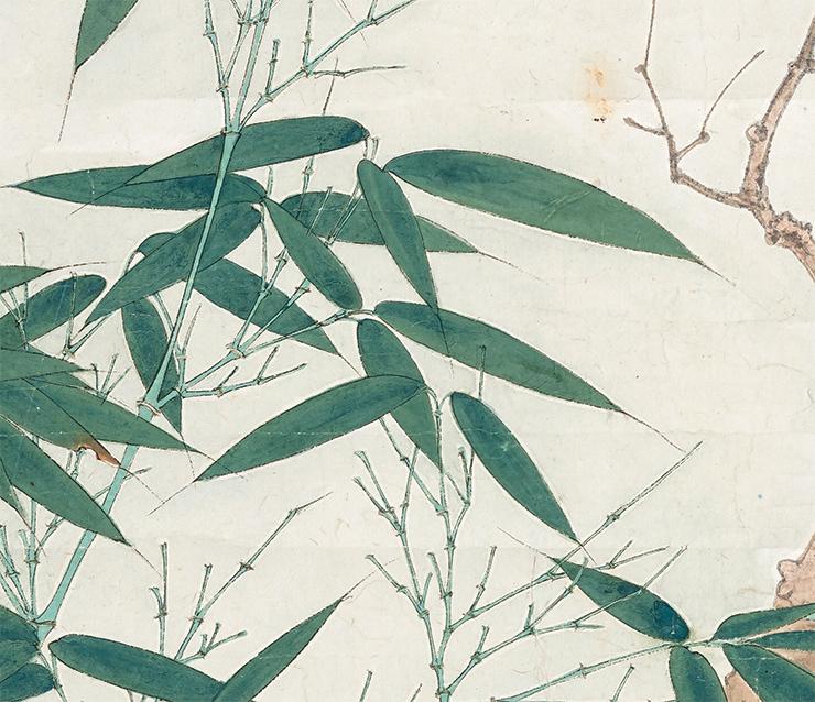 張大千【鳥】中国書画家 美術品 中国美術 掛軸 掛け軸 希少品 サイズ: 60cm x 132cm_画像5