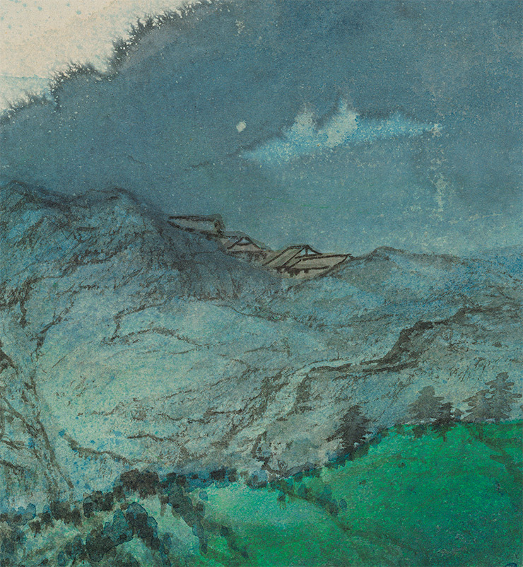 張大千【緑林】美術品 中国美術 中国書画家 掛軸 掛け軸 希少品 サイズ: 86cm x 176cm_画像7