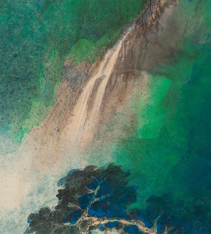 張大千【緑林】美術品 中国美術 中国書画家 掛軸 掛け軸 希少品 サイズ: 86cm x 176cm_画像6