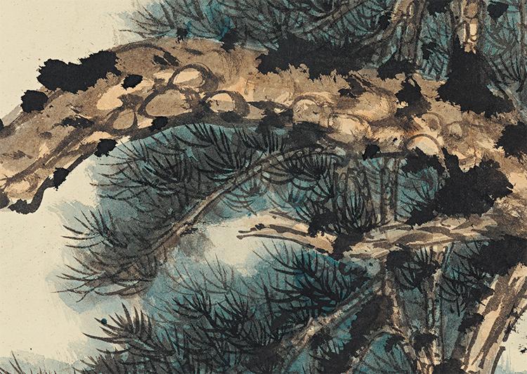 張大千【松下習者】中国美術 中国書画家 美術品 掛軸 掛け軸 希少品 サイズ: 98cm x 188cm_画像3