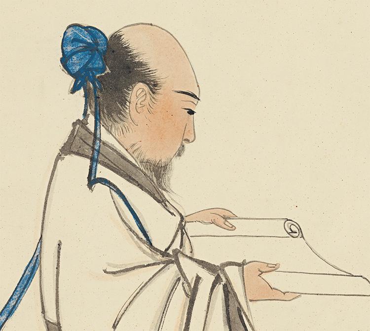 張大千【松下習者】中国美術 中国書画家 美術品 掛軸 掛け軸 希少品 サイズ: 98cm x 188cm_画像5