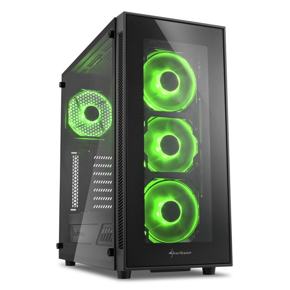 SHARKOON TG5グリーンフルデスクトップケース SHARKOON TG5 green Full desktop case