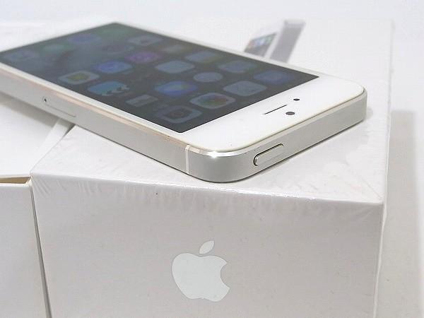 1円 美品 動作良好 3日間保証付Apple iPhone5 16GB シルバー ME040J/A au 判定○_画像4
