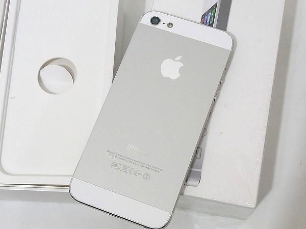 1円 美品 動作良好 3日間保証付Apple iPhone5 16GB シルバー ME040J/A au 判定○_画像7