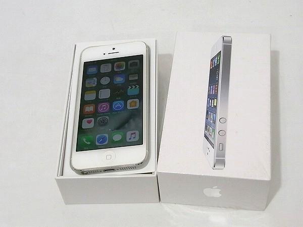1円 美品 動作良好 3日間保証付Apple iPhone5 16GB シルバー ME040J/A au 判定○_画像2