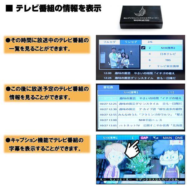 番組情報,自動検索,音声切替
