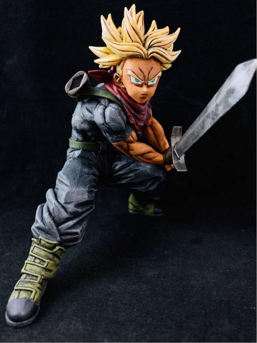 リペイント トランクス 超絶戯巧 ドラゴンボール フィギュア DRAGON BALL figure super saiyan trunks 一番_画像2