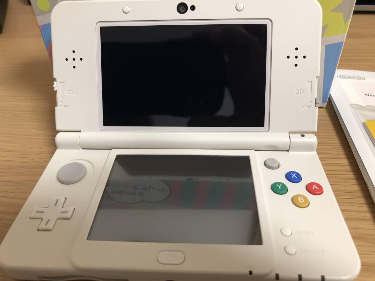 【新品同様】Newニンテンドー3DS ホワイト 元箱・付属品完備(ARカード未使用)_画像3