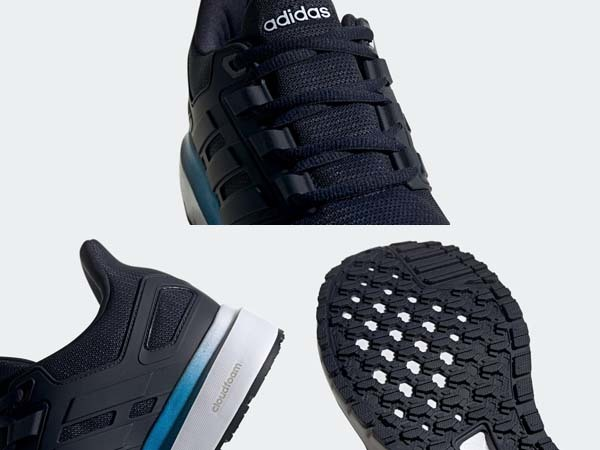 100円~ adidas エナジークラウド2 ネイビー 27.0cm 通気性クッション軽量サポート_画像7