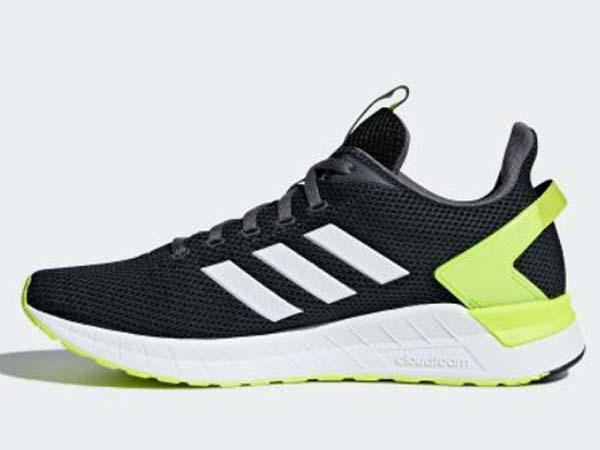 100円~ adidas QUESTAR RIDE カーボン/イエロー 26.5cm 通気性柔軟性軽量サポート_画像3