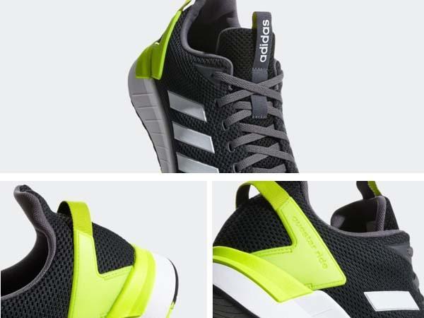 100円~ adidas QUESTAR RIDE カーボン/イエロー 26.5cm 通気性柔軟性軽量サポート_画像7