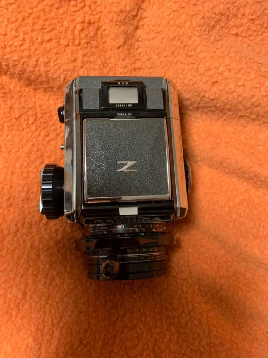 ☆594■ZENZA BRONICA ゼンザ ブロニカ S2A NIKKOR-P 75mm F2.8 フィルター付 フラッシュ付 備品付_画像5