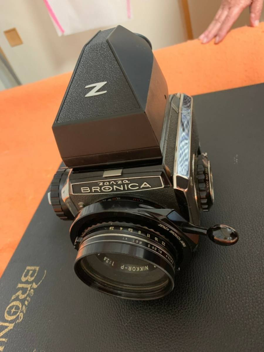 ☆594■ZENZA BRONICA ゼンザ ブロニカ S2A NIKKOR-P 75mm F2.8 フィルター付 フラッシュ付 備品付