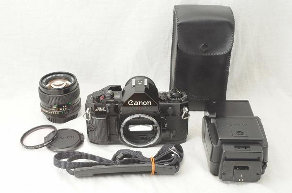 ★超美品★Canon キャノン A-1 + New FD 50mm F1.4 レンズ・ストロボセット スピードライト/#1493/0512