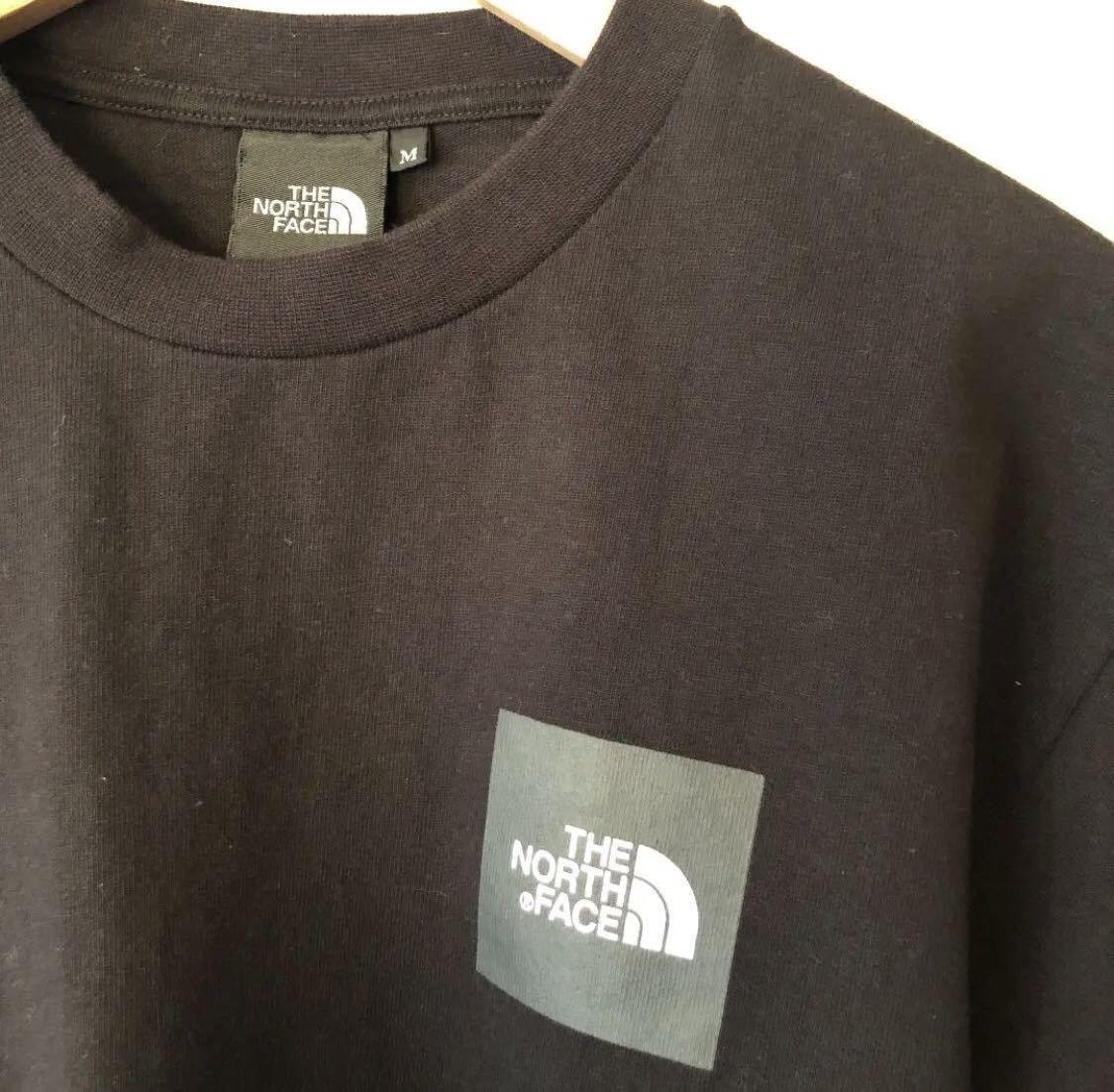 ノースフェイス ボックスロゴ Tシャツ Mサイズ ブラック シュプリーム カットソー_画像2